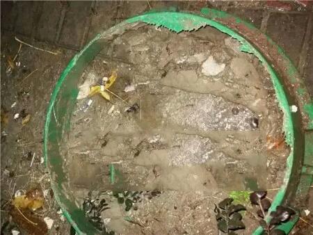 破损的草坪井